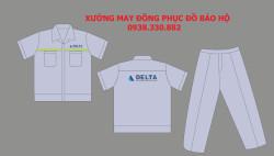 Thiết kế và may quần áo bảo hộ theo yêu cầu của công ty