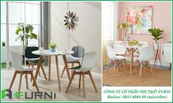 Những mẫu bàn ghế ăn tròn cho gian bếp hiện đại tại căn hộ chung cư