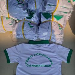 Xưởng chuyên may áo thun đồng phục cho công ty Xuất khẩu lao động Châu Hưng