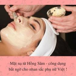 Mặt nạ từ Hồng Sâm - công dụng bất ngờ cho nhan sắc phụ nữ Việt !