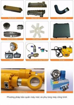 Phương pháp bảo quản máy móc và phụ tùng máy công trình