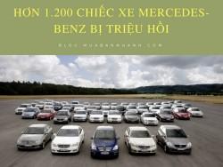 Hơn 1.200 chiếc xe Mercedes-Benz bị triệu hồi vì nguy cơ cháy