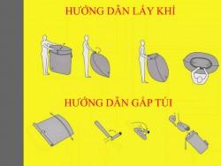 Hướng dẫn sử dụng túi hơi du lịch đa năng