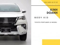 Bộ Body Kid LX Model của Toyota Fortuner 2017 gồm những gì?