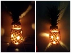 Hướng dẫn cách làm lồng đèn trung thu/ nến thơm từ quả dứa
