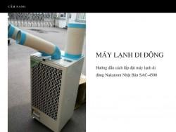 Hướng dẫn cách lắp đặt máy lạnh di động Nakatomi Nhật Bản SAC-4500