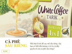 Cafe sầu riêng Malaysia