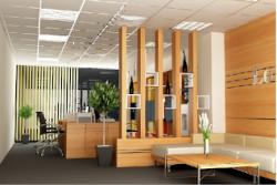 Vách gỗ ngăn phòng khách và bếp đẹp tại TPHCM
