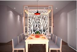 Ngăn cách hoàn hảo giữa phòng khách và bếp