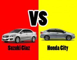 So sánh 2 dòng xe sedan hạng B: Suzuki Ciaz và Honda City