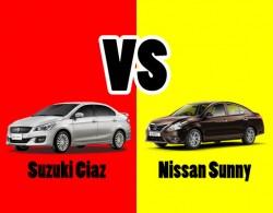 So sánh 2 dòng xe sedan hạng B: Suzuki Ciaz và Nissan Sunny