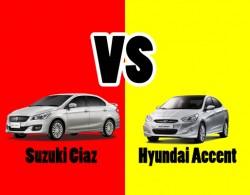 So sánh 2 dòng xe sedan hạng B: Suzuki Ciaz và Hyundai Accent