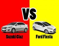 So sánh 2 dòng xe sedan hạng B: Suzuki Ciaz và Ford Fiesta 1.5 Titanium