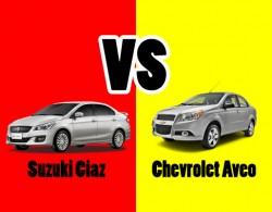 So sánh 2 dòng xe sedan hạng B: Suzuki Ciaz và Chevrolet Aveo LTZ