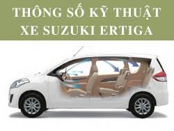 Thông số kỹ thuật xe Suzuki Ertiga