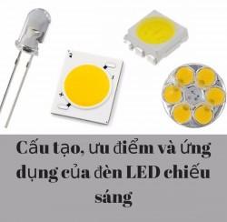 Cấu tạo, ưu điểm và ứng dụng của đèn LED chiếu sáng