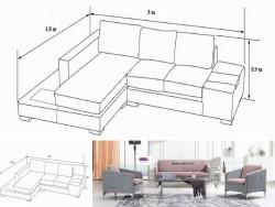 Chọn bộ ghế sofa phòng khách với kích thước nào là chuẩn?