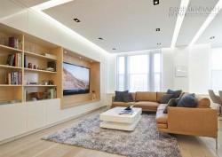 Hướng dẫn cách bố trí TV siêu mỏng trong không gian phòng khách