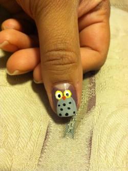 Cách vẽ nail cú tuyệt đẹp