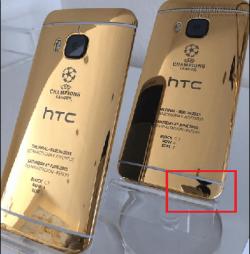 HTC dùng iPhone 6 để chụp ảnh quảng cáo One M9 mạ vàng