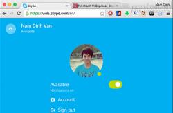 Skype nền web hỗ trợ người dùng toàn thế giới