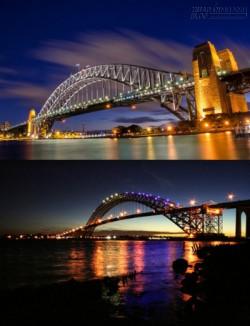 Phiên bản sinh đôi của cầu cảng Sydney