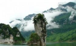 Hang động thạch nhũ và thác năm tầng ở hồ Na Hang