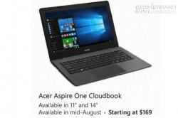 Xuất hiện máy tính Windows 10 giá siêu rẻ