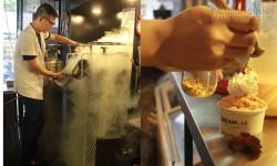 Choáng với quy trình làm kem tươi siêu nhanh từ ni-tơ lỏng