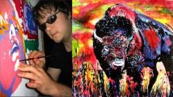 Hoạ sĩ mù gây sốt với những bức tranh đầy màu sắc
