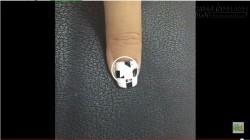 Hướng dẫn làm sơn móng tay đẹp với chỉ kim tuyến