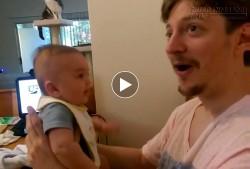 Cha kinh ngạc khi con trai 3 tháng tuổi nói: Con yêu bố