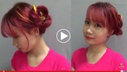 6 kiểu tóc tết hoa hồng cực đơn giản