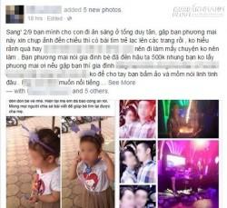 Cô gái xin chụp ảnh cùng em bé 3 tuổi rồi lên Facebook dựng chuyện em bị đi lạc