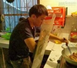 Cười đau ruột với chùm ảnh Khi đàn ông vào bếp