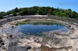 Dấu tích miệng núi lửa cổ ở vùng biển Bình Châu