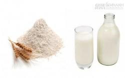 Chăm sóc và làm trắng da dầu với mặt nạ bột mỳ