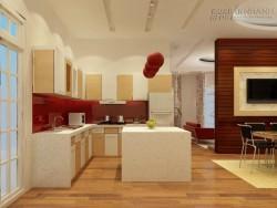 Sàn gỗ cho phòng bếp thêm sang trọng và sạch đẹp
