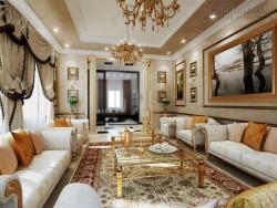 Thiết kế phòng khách đẹp phong cách cổ điển