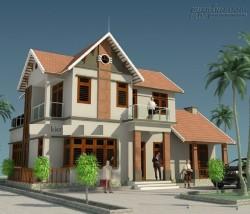 Nhà mái Thái 2 tầng đẹp