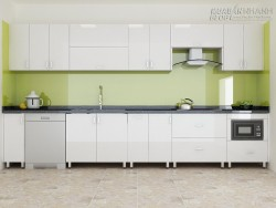 Mẫu nhà bếp đẹp với tủ bếp inox