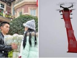 Nam sinh dùng trực thăng để tỏ tình với bạn gái trên sân trường