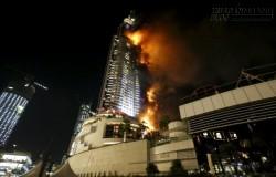 Cháy lớn tại khách sạn giữa Dubai đêm giao thừa