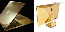 Không thể không thèm trước loạt iMac và Macbook mạ vàng 24k