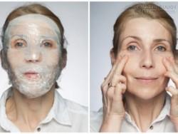 Xông hơi trẻ hóa da mặt bằng màng bọc thực phẩm