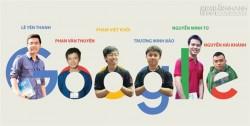 Sáu chàng trai Việt nắm tay nhau đến Google