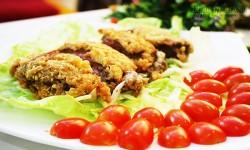 Hướng dẫn làm Thịt bò kẹp phô mai chiên xù giúp tăng chiều cao