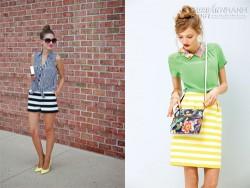 Bí quyết kết hợp trang phục kẻ sành điệu như fashionista