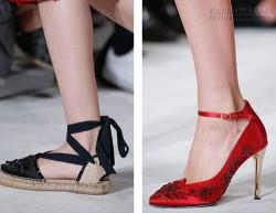 Những kiểu giày hot nhất từ sàn catwalk cho mùa xuân hè 2016