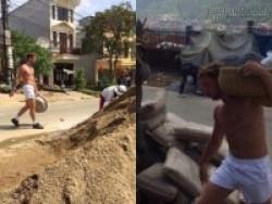 Loạt ảnh soái ca phương Tây làm công nhân khuân vác khiến dân mạng Việt náo loạn